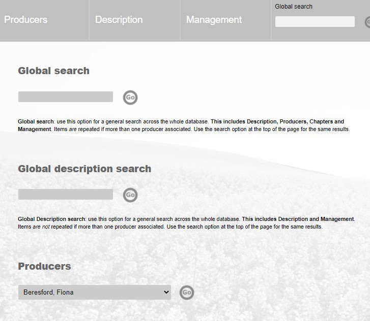 Click the image for a view of: New search options