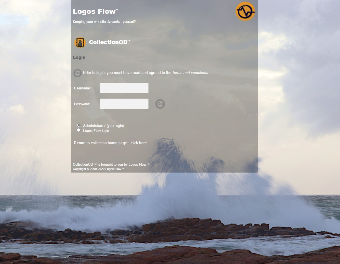 Click the image for a view of: New look login